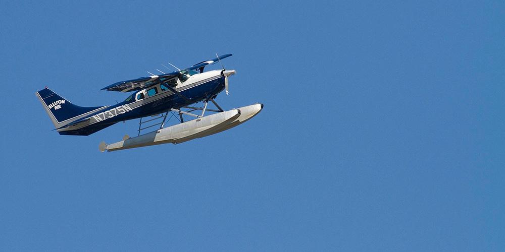 Ellison Air Flying Plane